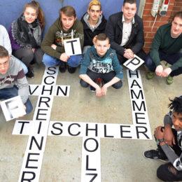 Projekt Buchstabenspiel zur Integrationsförderung SG BSB und BBS im Februar 2018. Foto: Liesel Hoevermann / Samtgemeinde Bersenbrück